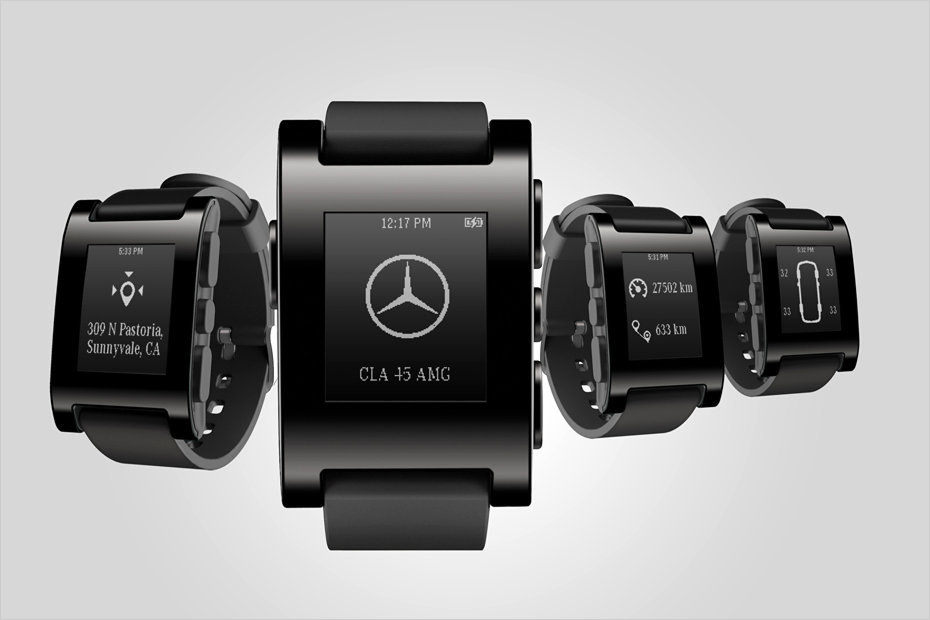 Mercedes Pebble Smart Watch